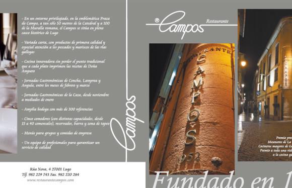 Tarjetón Restaurante Campos